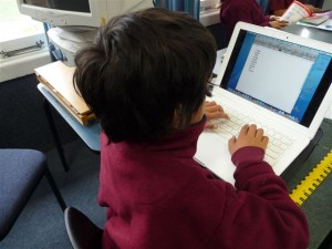 Using touch typing skills