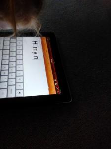 iPad in dark