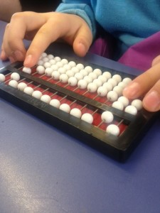 Subtraction using the Cranmer Abacus
