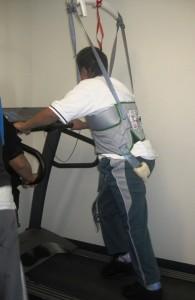 Teuaki on the treadmill
